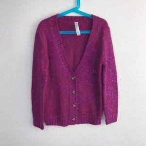 Cherokee Girl Sweater Sz M (7-8) Cardigan Sequin